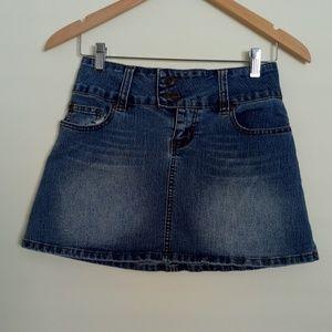 One Tuff Babe Jean Skirt